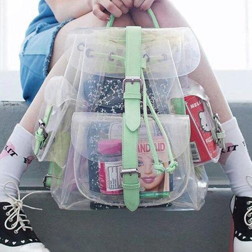 coreana hermosa mochila fiesta de la niña claro... (green)