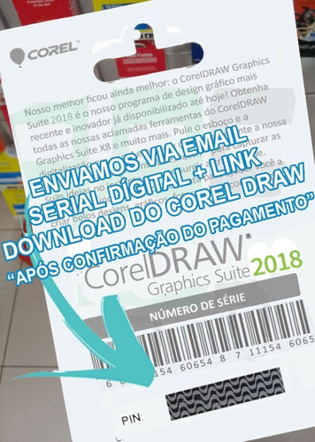 corel draw 2018 + 03 licença original + coreldraw completo