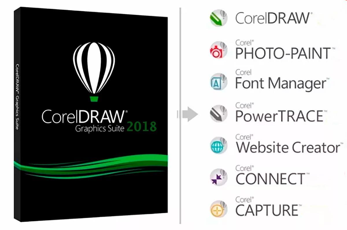 Corel Draw Suite 2018 Vitalicio + Video De Instalación