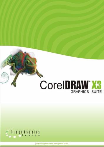corel draw x3  portugues + tutorial em vídeo