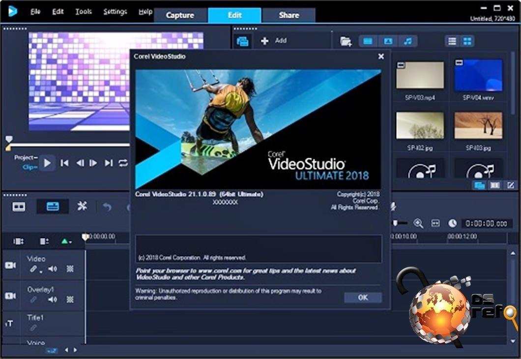 Corel Video Studio Ultimate 2018 - Editor De Fotos E Video