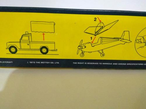 corgi gift set 19, land rover, aircraft & trailer 1973
