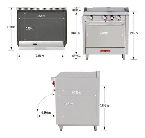 coriat ec-hg-grill hd estufa horno plancha trend 671380