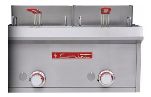 coriat fc-10-d petit freidora 2 tinas 3l inox premium571900