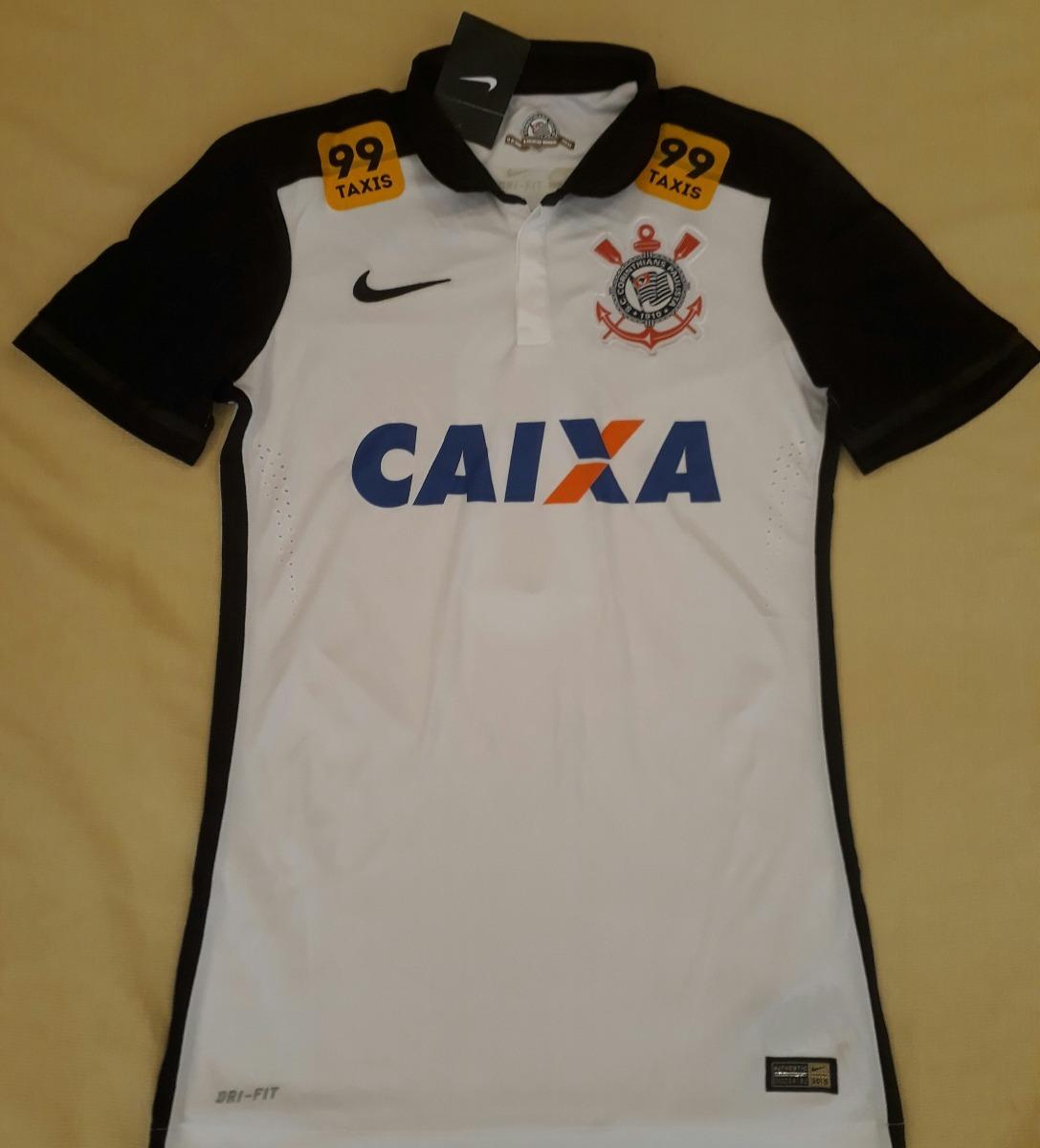 de22a49f38 Camisa Corinthians Jogador Nike Campeão Brasileiro 2015 - 9 - R  379 ...