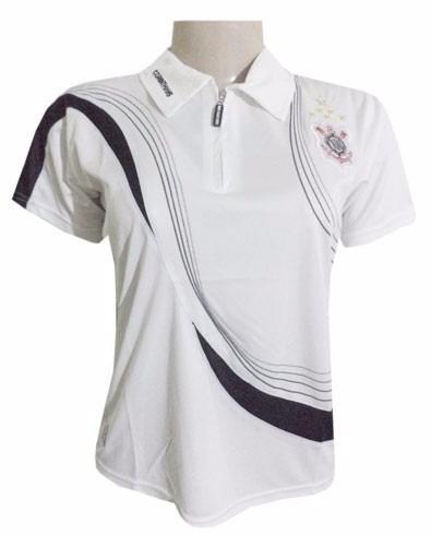 corinthians camisa polo feminina oficial