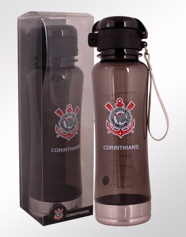 corinthians garrafa squeeze 600ml com bolsa oficial presente. Carregando  zoom. 35fd550a9ebab