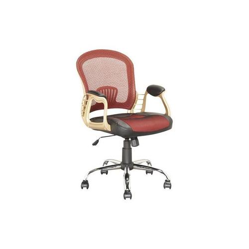 corliving - cuero sintético y malla silla ejecutiva de la of