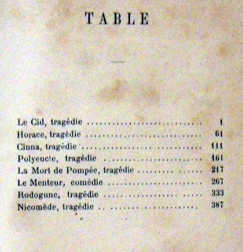 corneille theatre choisi 1881 ilustrado en frances no envio
