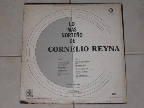 cornelio reyna lo mas norteño de disco lp acetato vinil