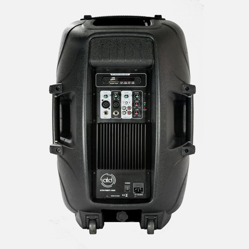 corneta amplificada atd 1500 watts bluetooth usb microfono