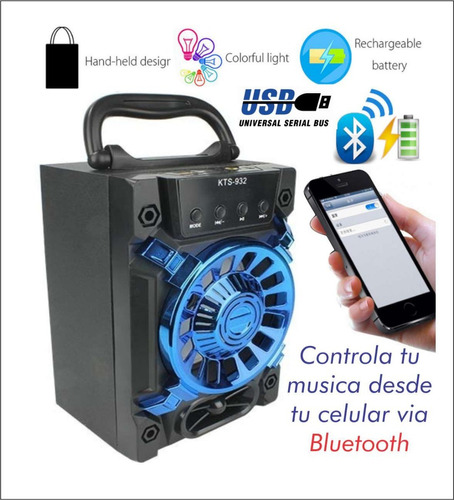 corneta amplificada recargable bluetooth usb fm