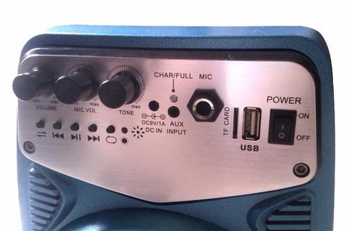 corneta amplificada recargable control remoto mp3/usb/sd myp