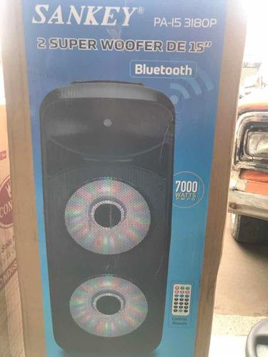 corneta amplificada sankey 15  doble 7000w usb bluetooth