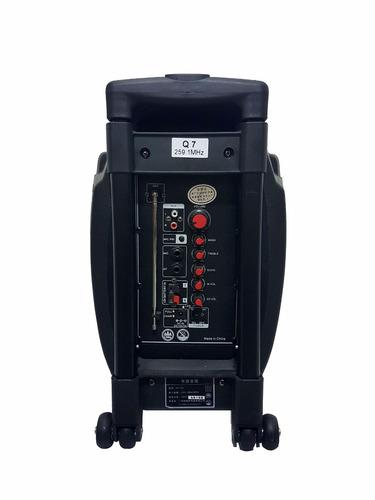 corneta amplificada temeisheng q7  mic usb bateria sd