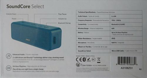 corneta anker select waterproof 12w bluetooth 24h nueva 35v