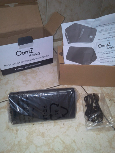 corneta bluetooth  oontz angle 3 cambridge soundworks