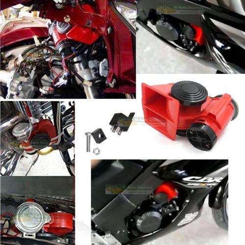 corneta claxon moto auto gemela aire electrica sonido fuerte