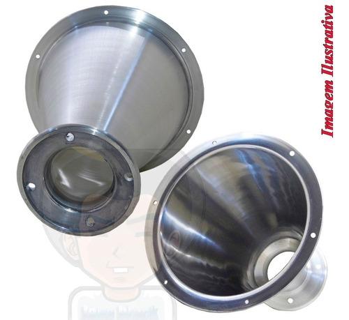 corneta cone jarrão de alumínio p/ driver rosca ou parafuso