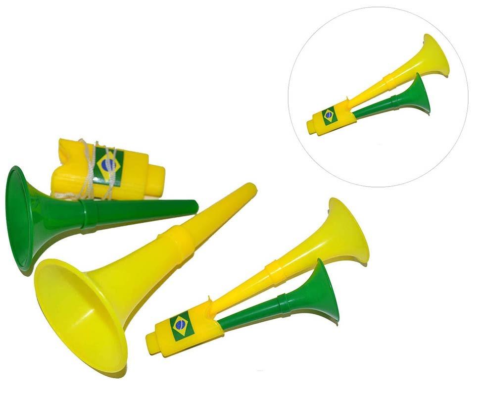 corneta dupla buzina kit 20 unidad copa do mundo jogo brasil. Carregando  zoom. 7fdc8bea401a6