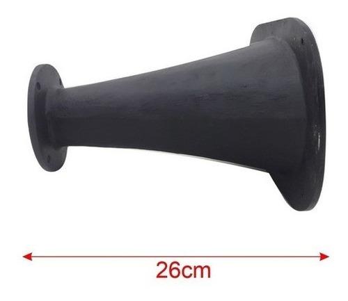 corneta kallaus alumínio boca oval cone longo preto flange