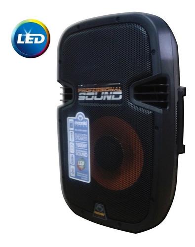 corneta moonki 1600w amplificada usb bluetooth tienda bagc