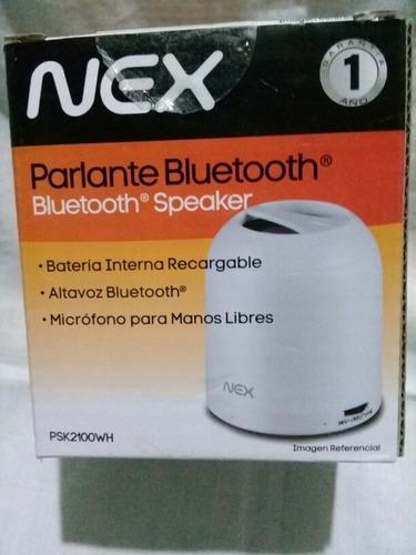 corneta parlante bluetooth nex portátil