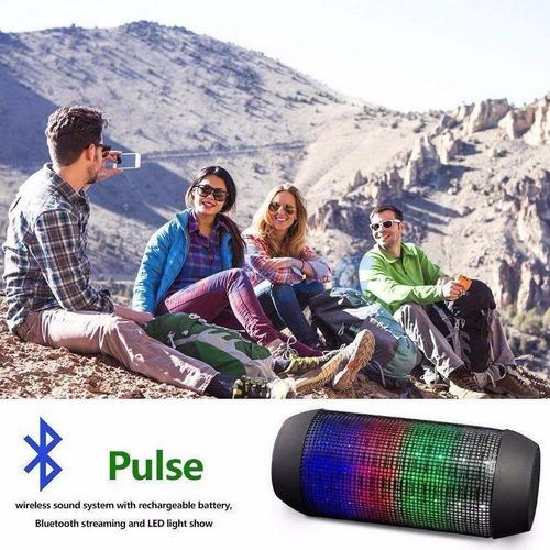 corneta portatil led stereo wireless bluetooth mp3