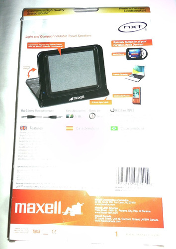 corneta portatil maxell para laptop pc mp3 mp4 celulares