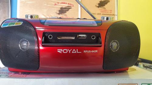 corneta portatil recargable royal usb aux sd fm am
