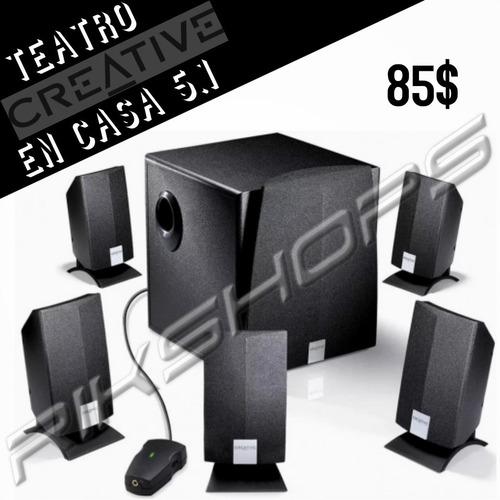 cornetas bajo 5.1 teatro en casa sonido alta calidad tienda