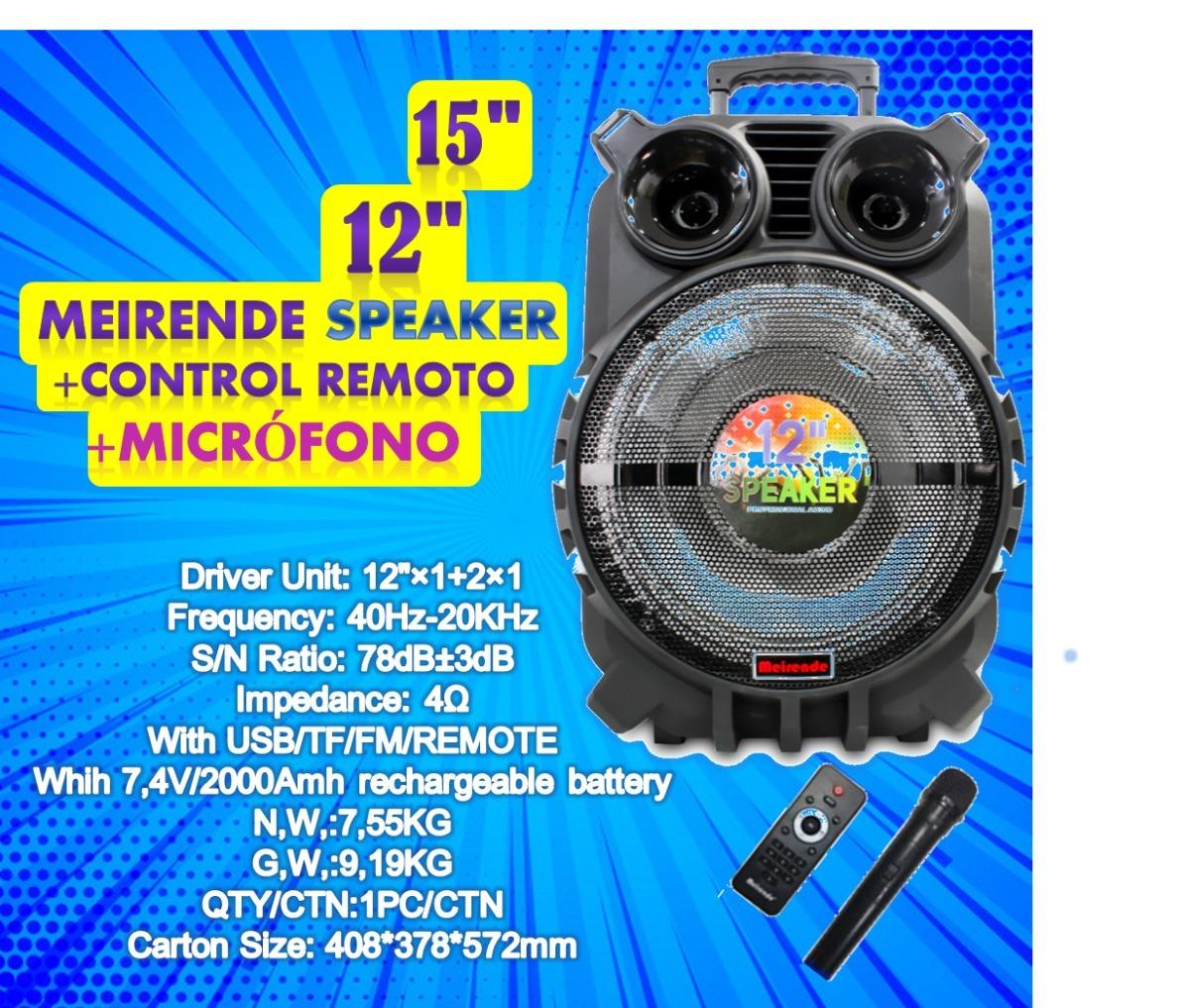 Cornetas Inalambricas Speaker 12 Y 15
