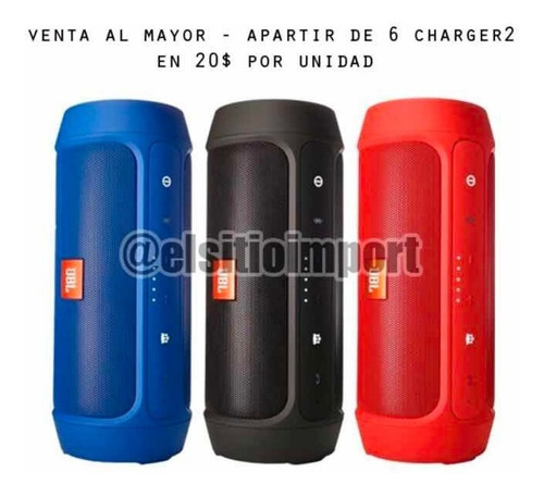 cornetas jbl inalámbricas charge 2