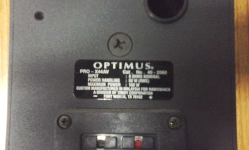 cornetas optimus negra pro - x44av