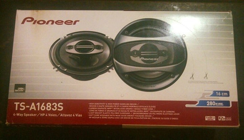 cornetas para carro/camionetas pioneer ts-a1683s de 16cm/2