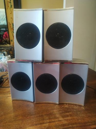 cornetas para home theater 5.1 de 77 watt. marca rca. 5 unid