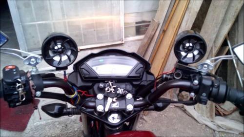 cornetas para mp3 de moto con luz 2 x 20 w (par)
