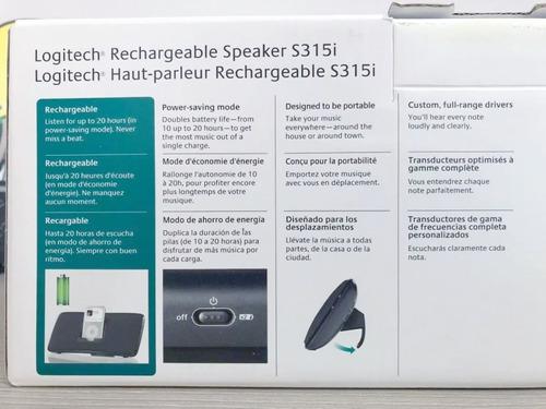 cornetas recargables para ipod iphone logitech s315i