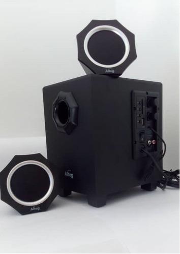 cornetas speaker 2.1 bluetooth inalambrico radio usb tienda