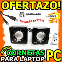 Wow Cornetas Para Pc Laptop Mp3 3.5mm Usb 3w 2.0 Multimedia