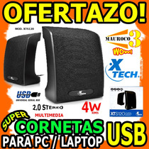 Wow Cornetas Para Pc Laptop Xtech Xts120 4w Rms 2.0 Usb