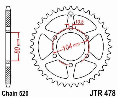 coroa de alumínio jt zx6r 07-14