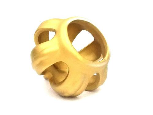 coroa de ceramica p/ decoração festa carnaval dourada tam. ¿