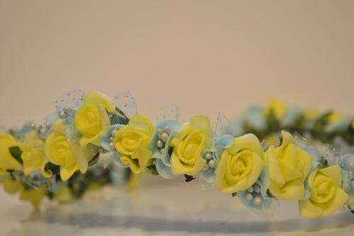 coroa de flores -  tiara de flores