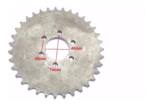 coroa de relação do quadriciclo 150cc, 35 dentes