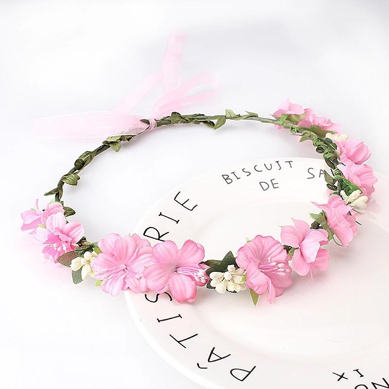 coroa flores acessórios cabelo daminha florista cor rosa. Carregando zoom. 79920430e71