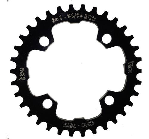 coroa iron unitária bcd 94/96mm 34 dentes bike mtb