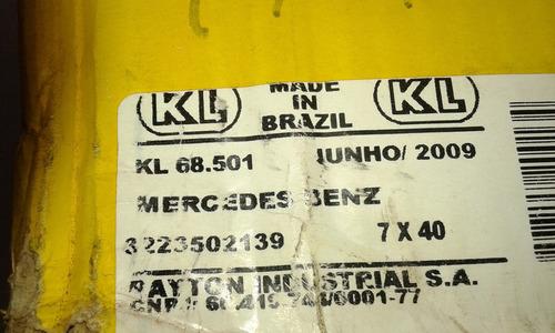 coroa pinhão mercedes 7x40 14mm mb 1113 1313 1513 2013 2213