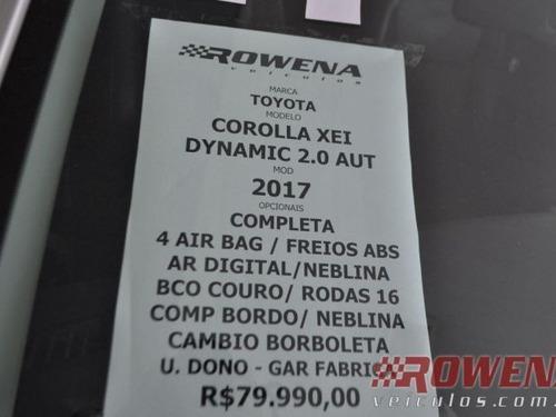 corolla dynamic 2.0 aut unico dono top