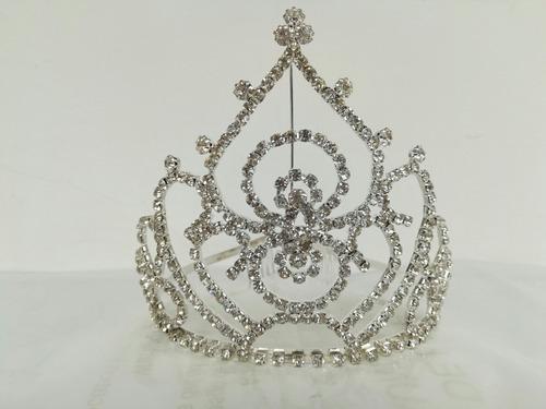 corona alta 10,5cm tiara strass reina rey 15 novia princesa
